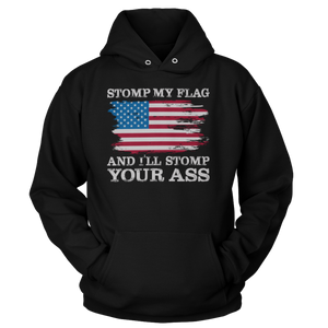 Stomp my flag and I'll stomp your ass