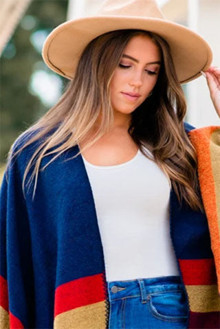 fall colors on poncho