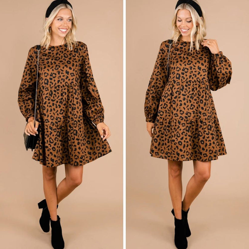 mud pie take the day brown leopard dress