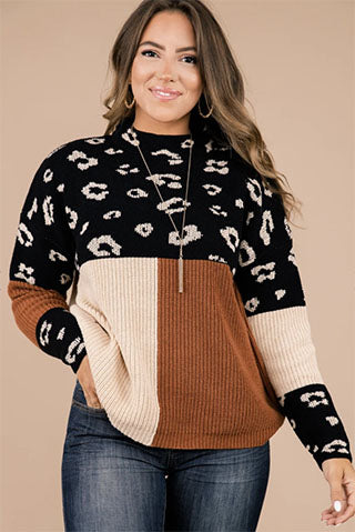 neutral leopard print sweater