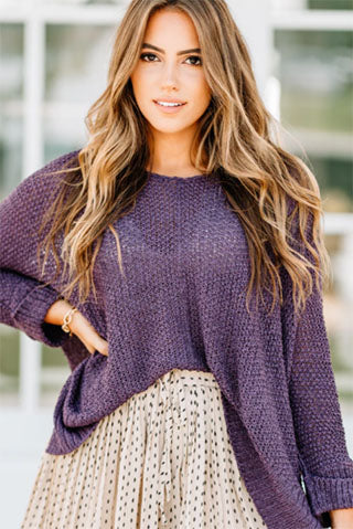 new you new day plum purple sweater