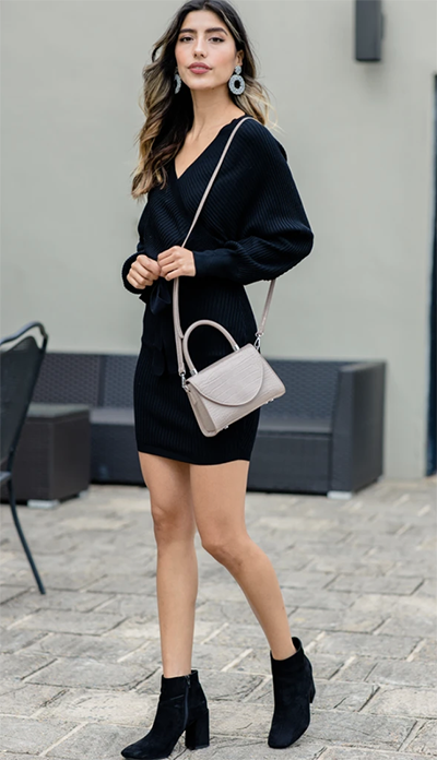 on your side black sweater dress