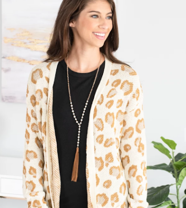 cute patterned knit cardigan