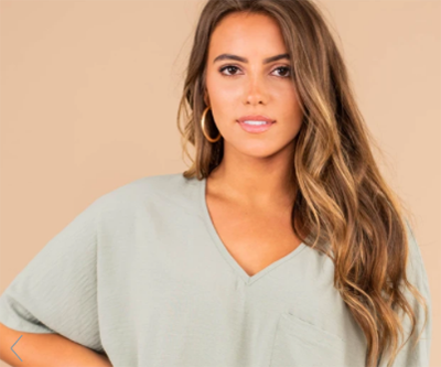 planned for this sage green top