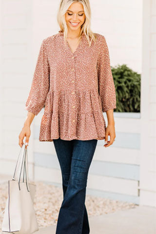 support you cocoa brown leopard tunic