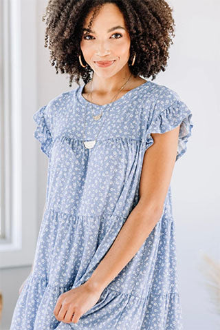 well wishes blue dress