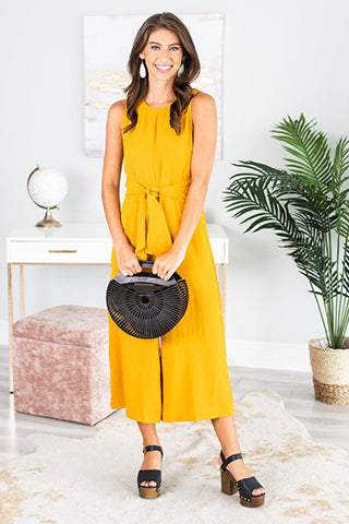 Yellow midi dress