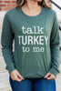 Thanksgiving graphic long sleeve tee