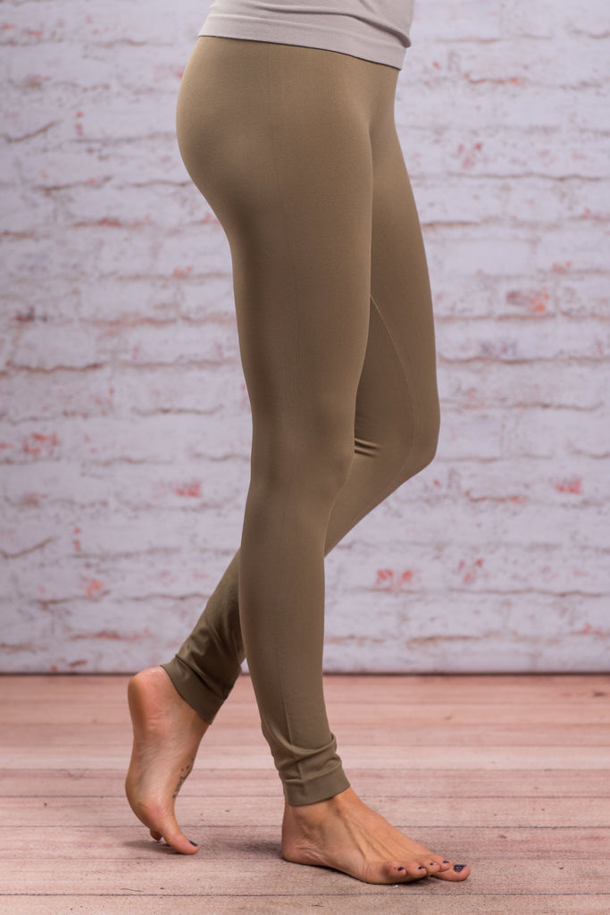 Lovable Leggings Long, Army Green