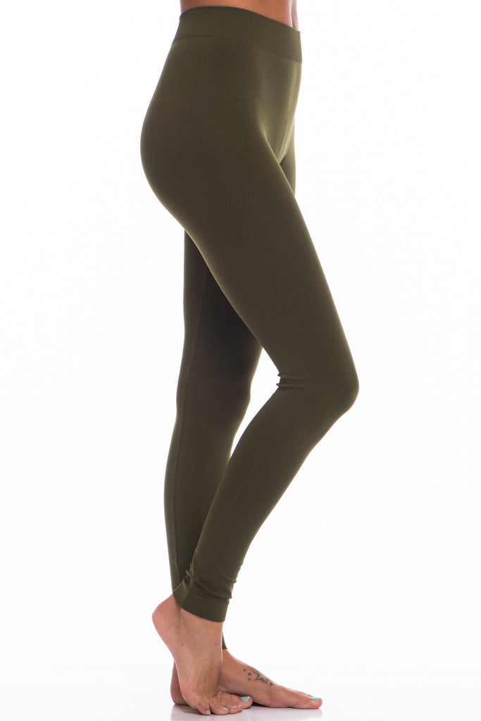 Lovable Olive Green Long Leggings