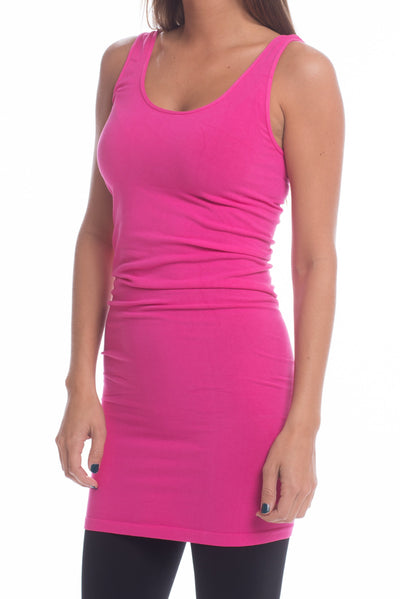 Long Layering Cami, Hot Pink