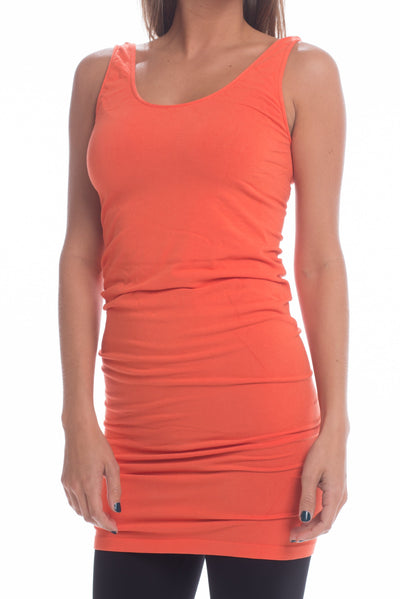 Long Layering Cami, Orange