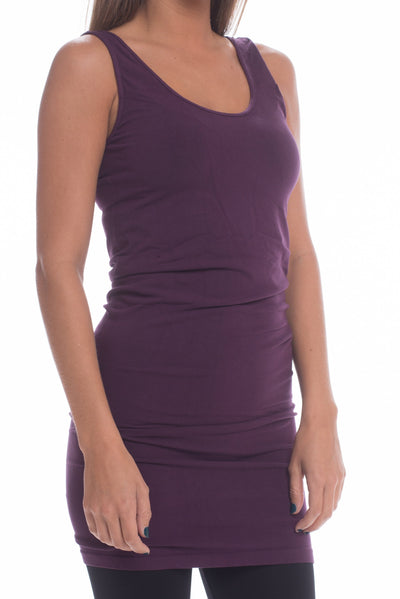 Long Layering Cami, Plum