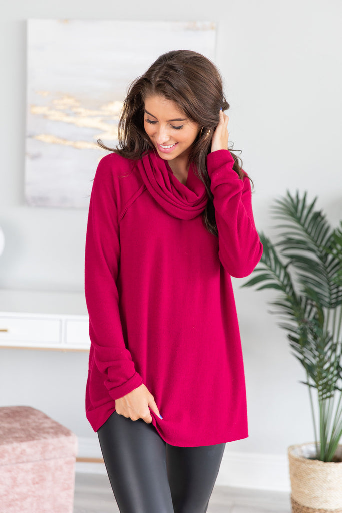 The One You Want Sweater, Burgundy