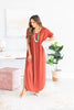 Trust The Plan Fired Brick Red Maxi Dress