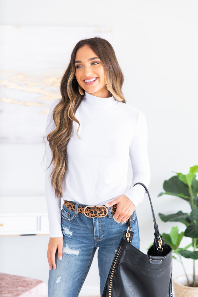 top, long sleeve, long sleeve top, solid, solid top, white, white top, mock neck, mock neck top, fall, fall top, summer, summer top, casual, casual top, everyday, shopping, work, night out