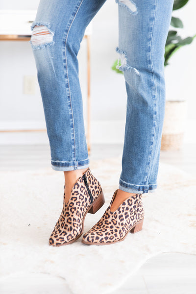 Life Is A Journey Leopard Booties