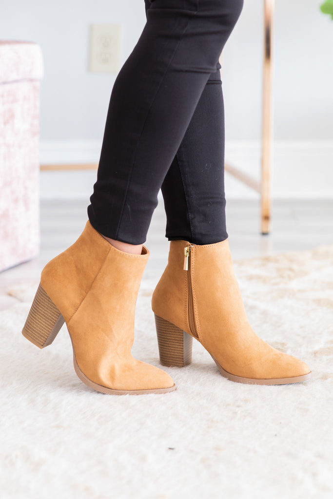 Classic Trendy Booties, Camel – The