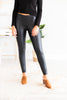 Rise Above Black Faux Leather Leggings