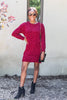 red sweater dress, red dress, sweater dress, chenille sweater dress, chenille dress, red chenille sweater dress,
