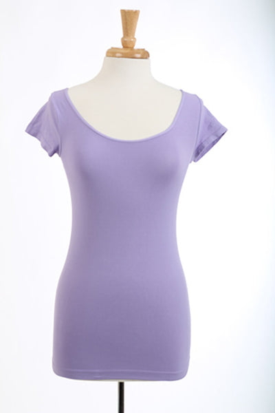 Cap Sleeve Scoop Cami, Lilac