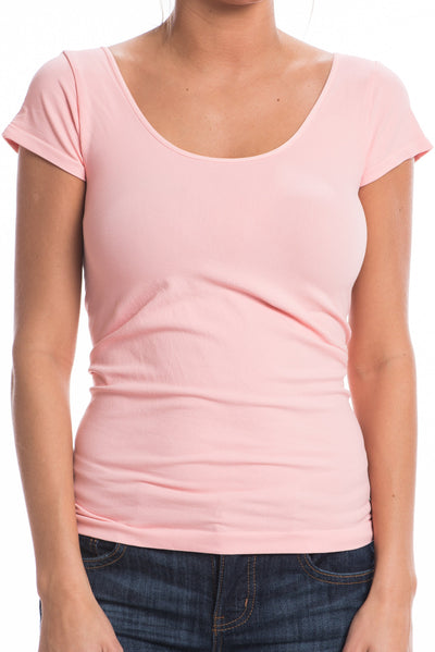 Cap Sleeve Scoop Cami, Pink