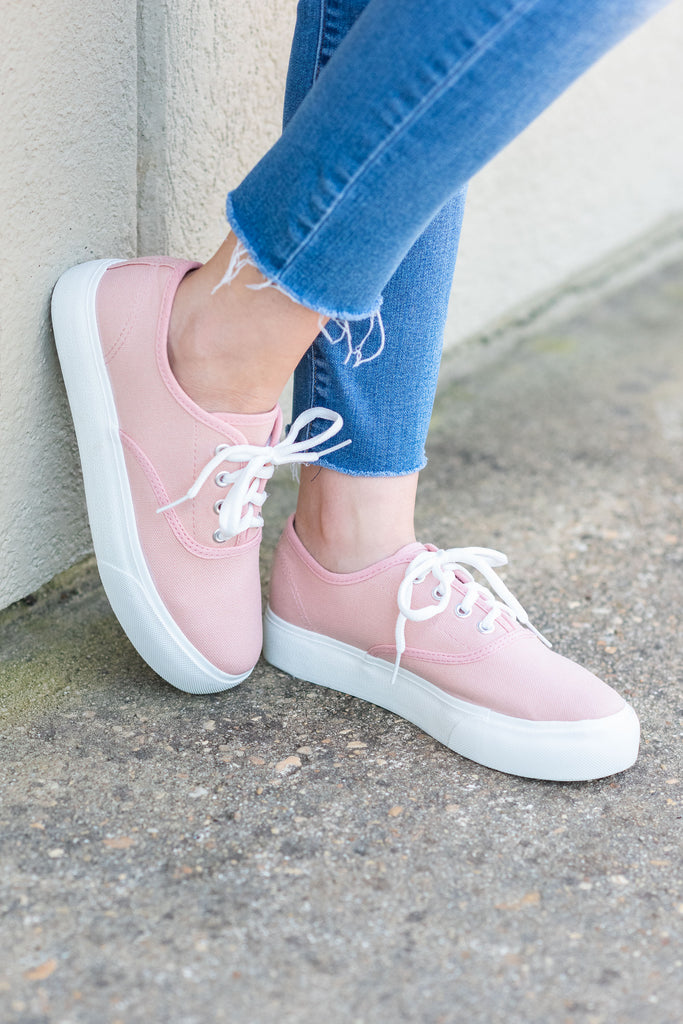 Just Kicking It Sneakers, Blush