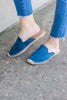 Feeling It Denim Blue Flat Mules