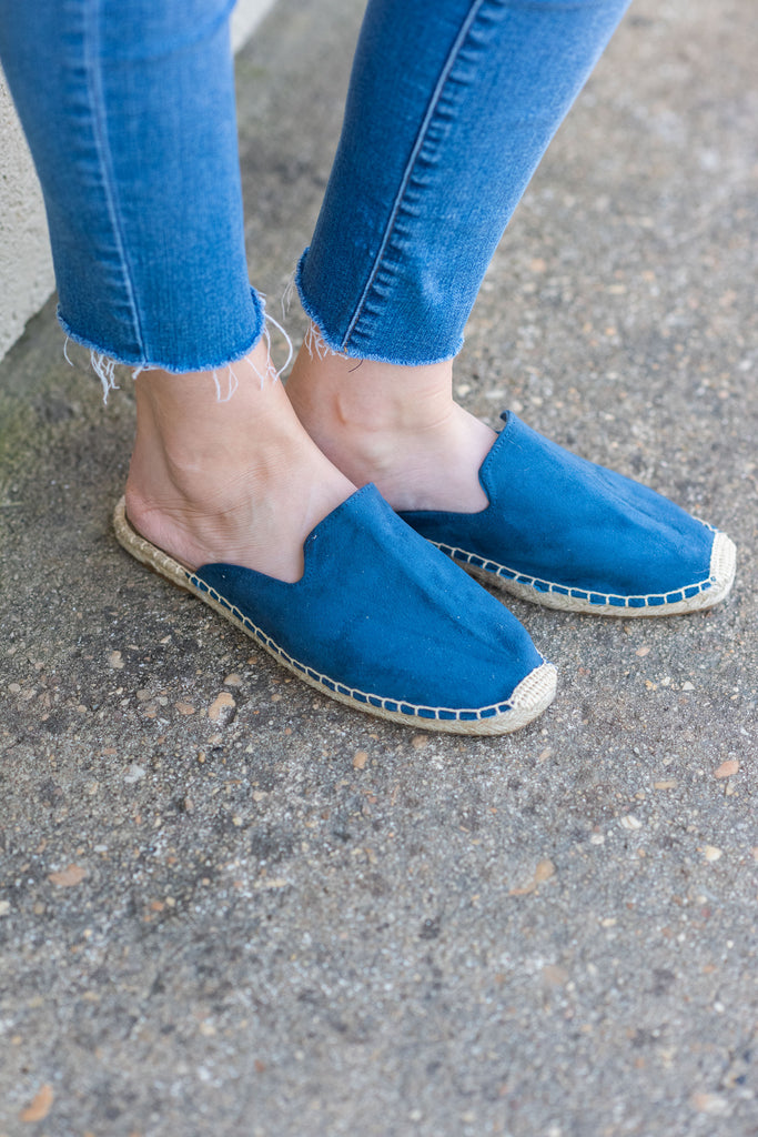 Feeling It Mules, Denim Blue