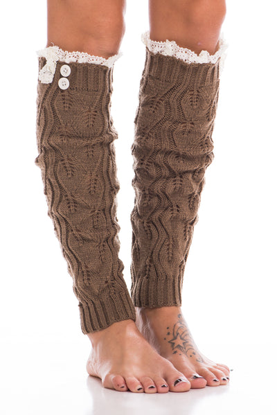 Crochet Leg Warmers, Latte