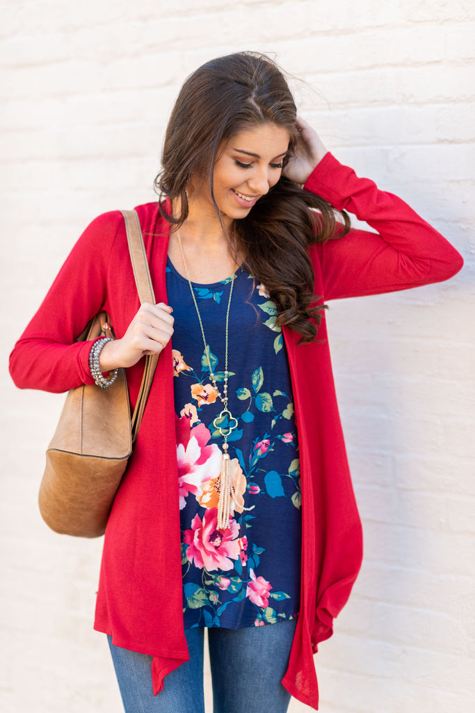 Undeniable Cardigan, Red