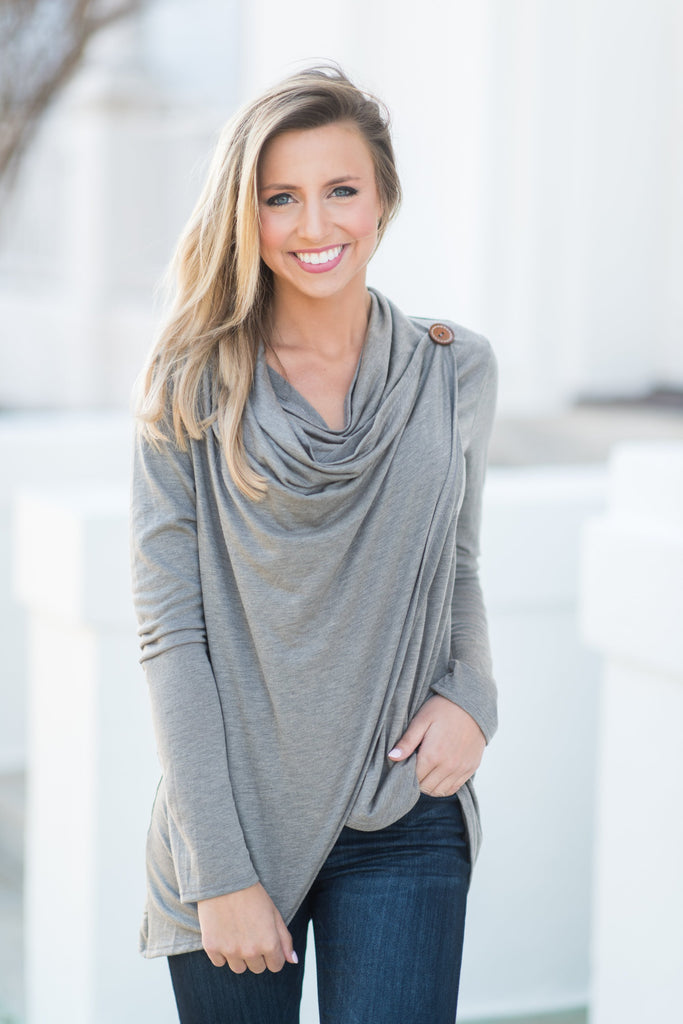 Wrapped In Love Top, Taupe