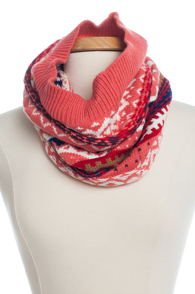 Winter Love Infinity Scarf, Pink