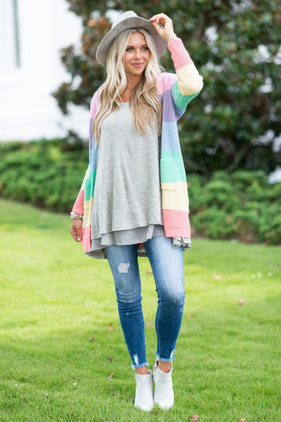Lightly Layered Tunic, Heather Gray