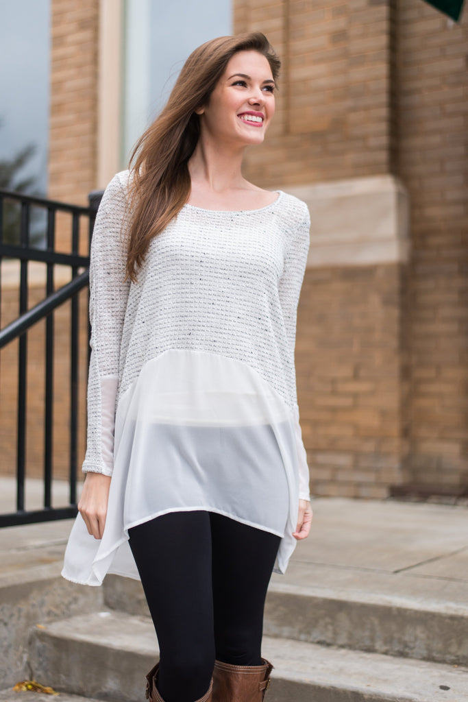 Sheerly Sweet Top, Ivory