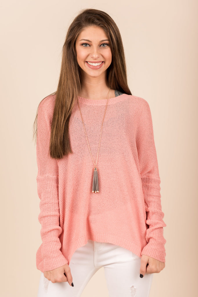 Just Breathe Sweater, Salmon