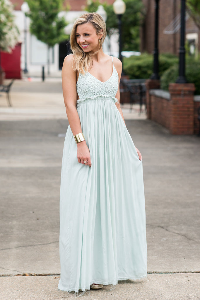 Take My Hand Maxi Dress, Mint