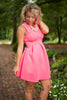 Eye For Flare Dress, Neon Pink