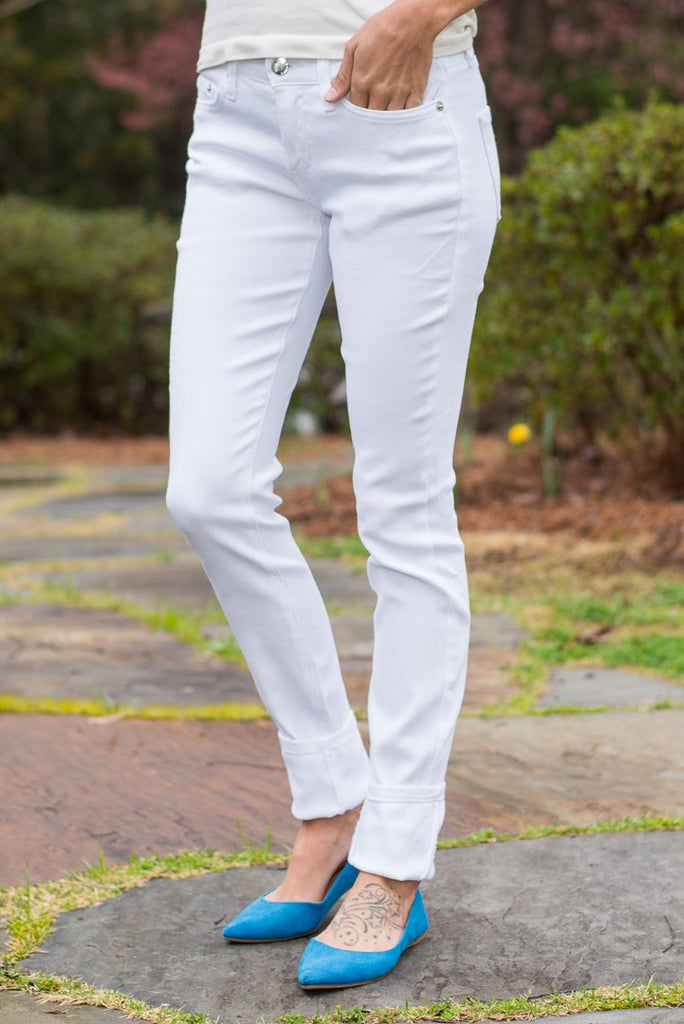 The Whitney Skinny Jeans, White