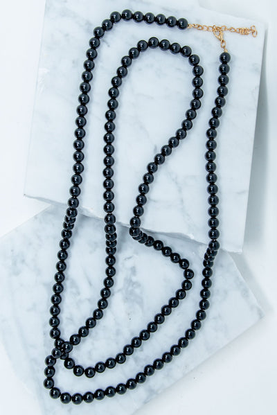 Dynamic Duo Necklace, Black