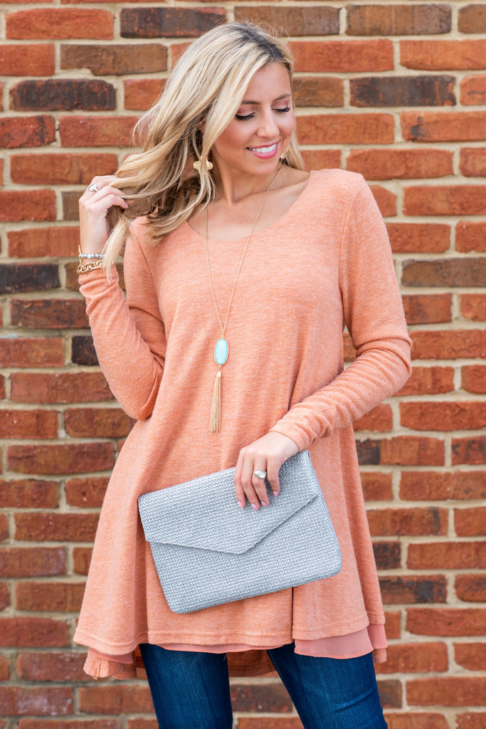 Lightly Layered Tunic, Rust