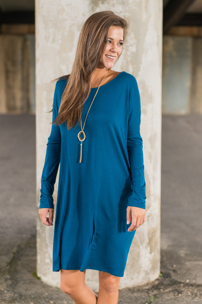 Shift It To Me Dress, Teal