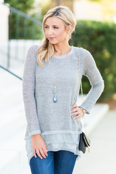 Into The Night Tunic, Gray