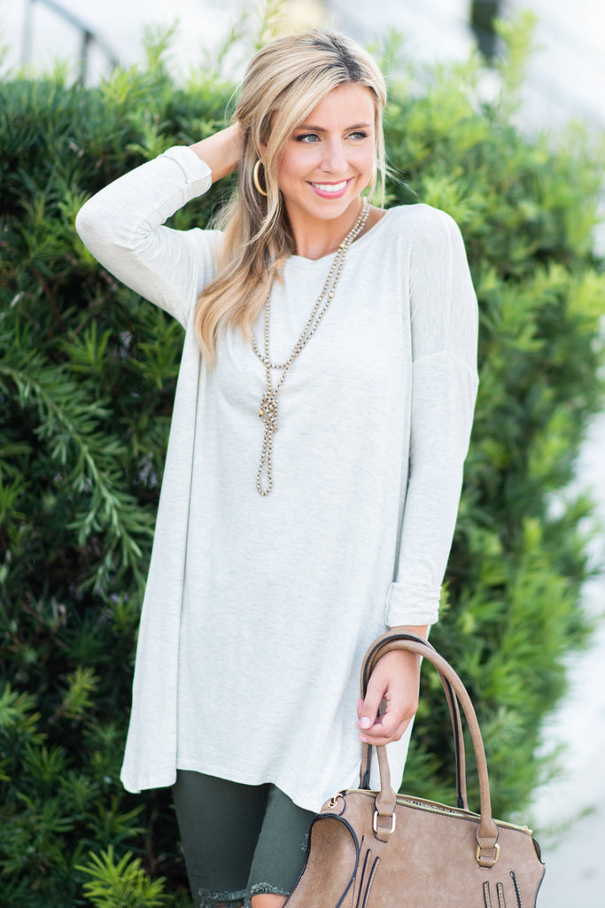 Soft Side Of Society Tunic, Oatmeal
