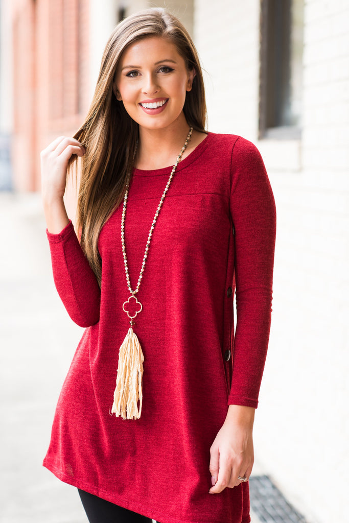 By Your Side Tunic, Red