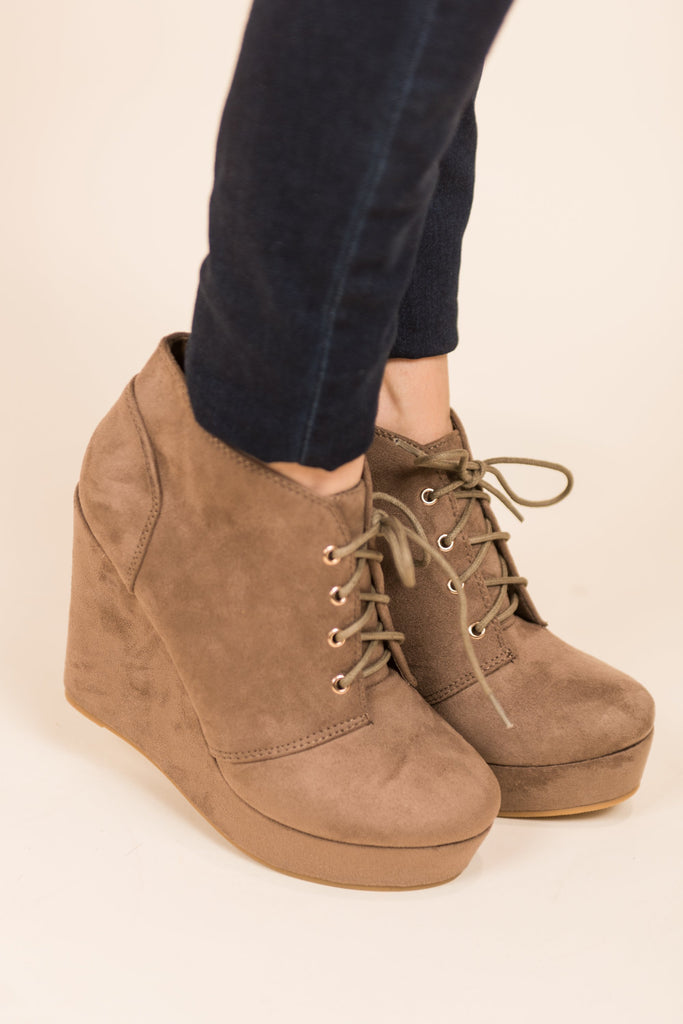 Give Em The Blues Booties, Taupe