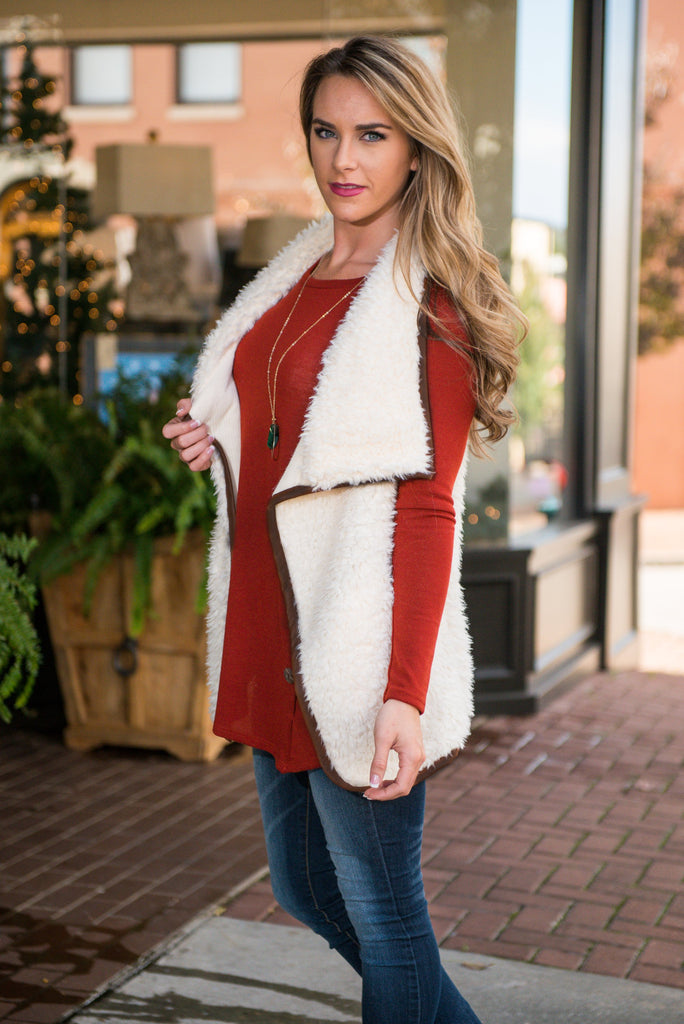 For The Fur-st Time Vest, Cream