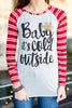 Brrr Baby Top, Gray-Red