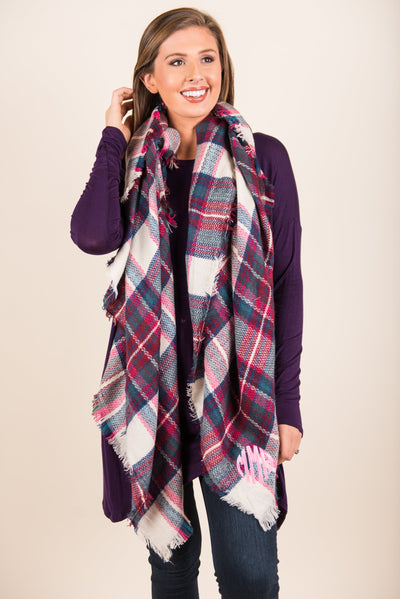 Autumn Air Scarf, Pink