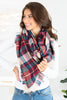 scarf, accessories, plaid, scarves, white, fall clothing, fall scarves, winter clothing, winter scarves